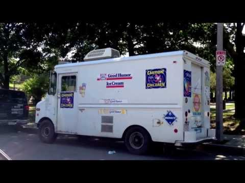 "Awesome ice cream truck says ""hello"" in Roxbury, Massachusetts (Boston)"