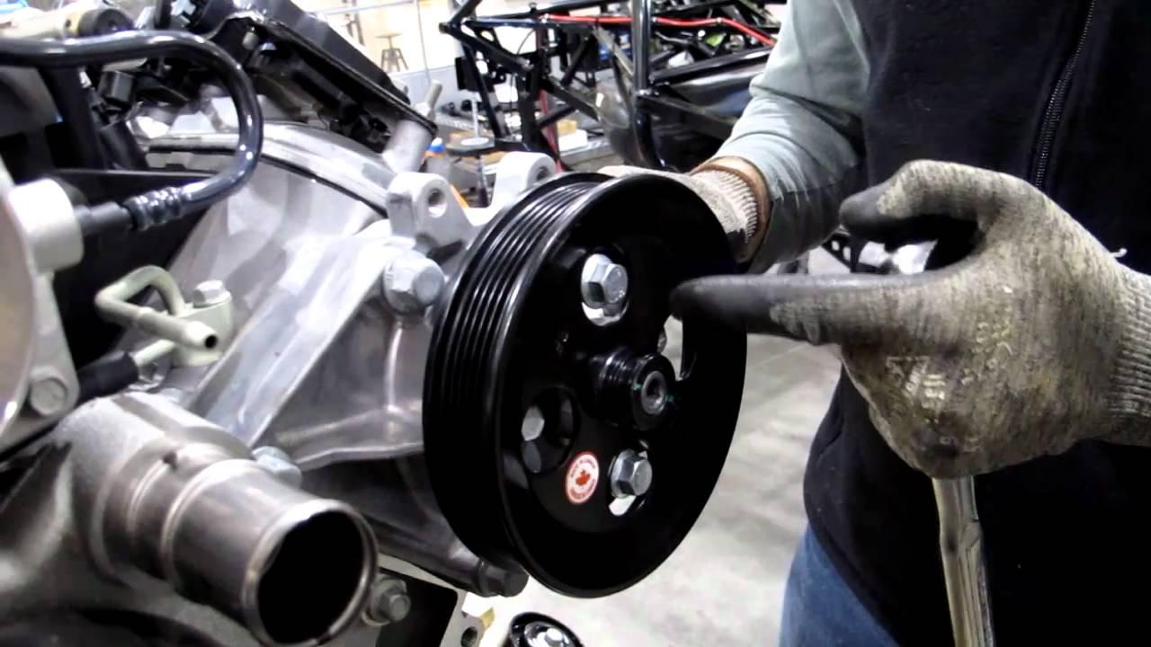Installing Power Steering Bracket and Pump  YouTube