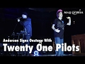 """Twenty One Pilots Perform """"Ode to Sleep"""" While Wish Kid Anderson Signs"""