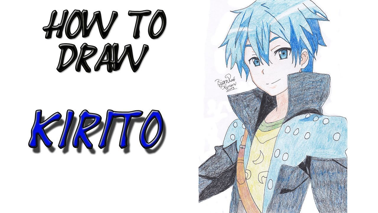 How To Draw Kirito From Sword Art Online By Zaromaru Youtube