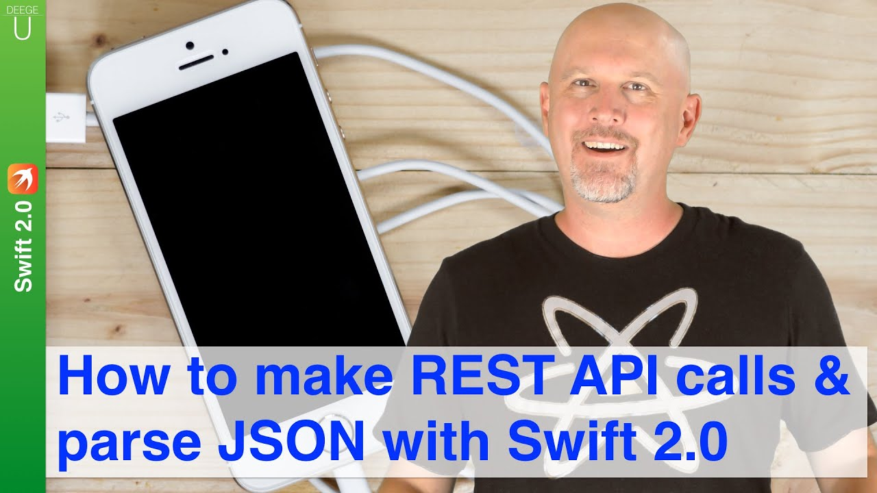 how to make rest api calls parse json with swift 2 0 youtube