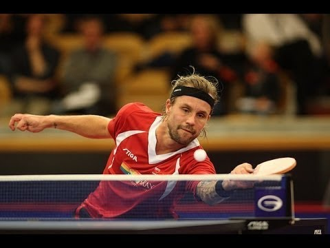 Michael Maze - Master Of Lob And Sidespin (Table Tennis Legend)