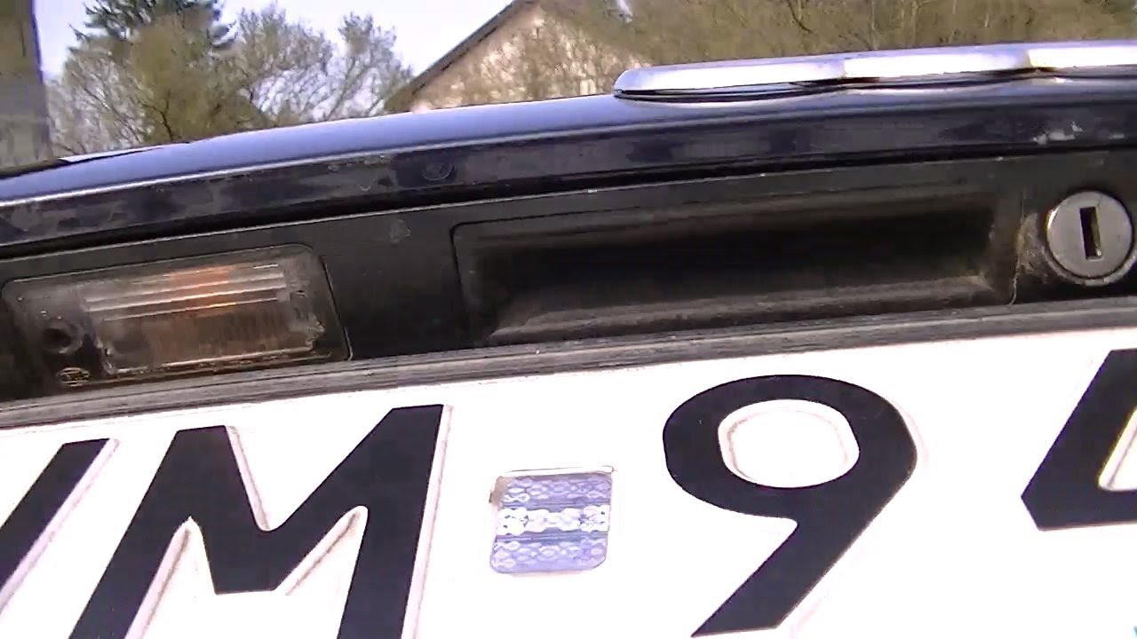 Audi A4 B6 Kombi Naprawa Całego Oświetlenia Tablicy Rejestracyjnej