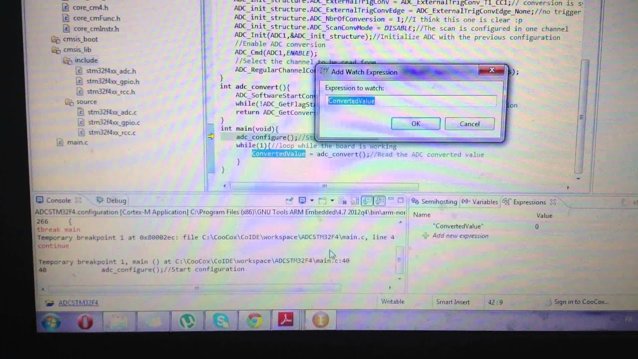 My Activities: ADC with STM32F4