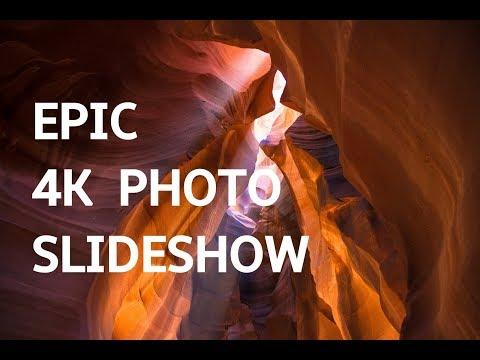 EPIC PHOTO SLIDESHOW IN 4K UHD! Beautiful Art Photography Slideshow Screensaver | Silent Scenery