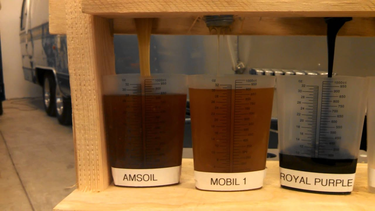 40 Mobil 1 Amsoil Royal Purple Comparison Youtube