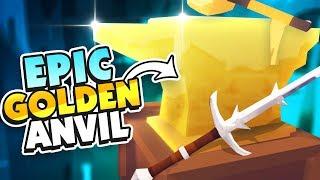GOLDEN ANVIL CRAFTS EPIC SWORDS! - Hammer and Anvil VR