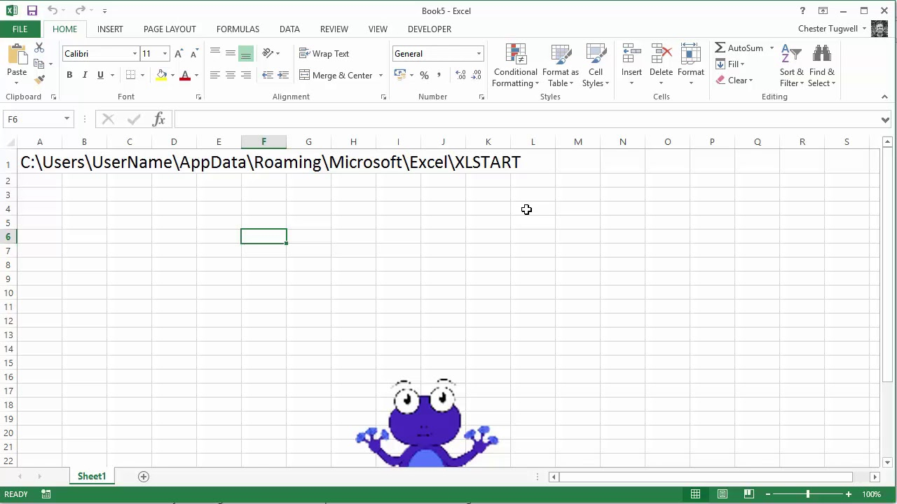 Create a Default Sheet Template in Excel - YouTube