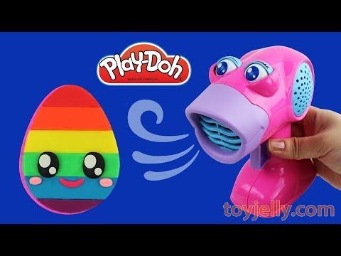 DIY How to Make with Play Doh Cute Rainbow Egg Creative Fun for Kids Learn Colors with Baby Toys
