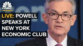 """Federal reserve chairman jerome powell speaks wednesday to the economic club of new york on """"state u.s. labor market.""""the speech comes as job gain..."""