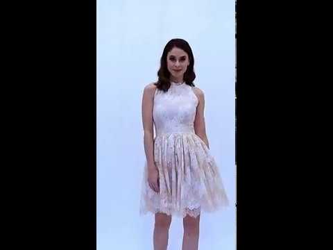 68cf202688 Elegancka sukienka z cieniowanej koronki Milena Płatek - YouTube