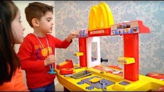 One of Naty TubeFun's most viewed videos: McDonald's Drive Thru Pretend Play Kitchen Cooking Playset Alex Ride on Motorbike
