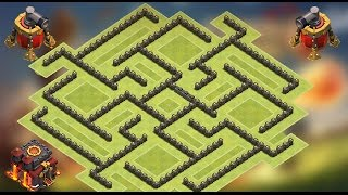 Clash of Clans - TH10 Double Air Sweeper Trophy Pushing base