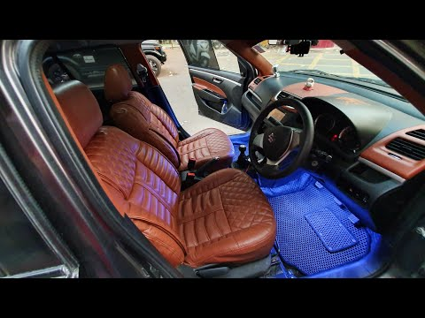 Modified Maruti Swift | Maruti Swift With Ozone Leather Seat Covers | Kappa Components On Swift