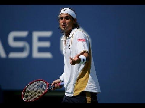 2017 US Open: David Ferrer celebrates hot shot