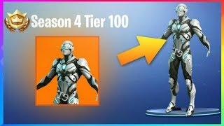 'NOUVEAU' SEASON 4 Battle Pass Skin REVEALED! Tier 100 Débloquer!? (Fortnite Battle Royale)