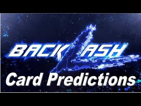 WWE Backlash 2018 Predicted Match Card