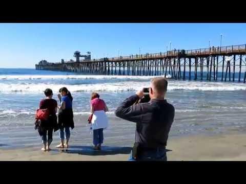 A walk along The Oceanside Pier, CA