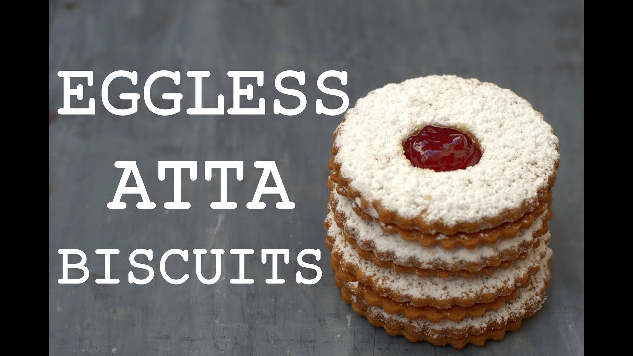 Eggless Atta Jam Biscuits Easy Christmas Baking Recipes