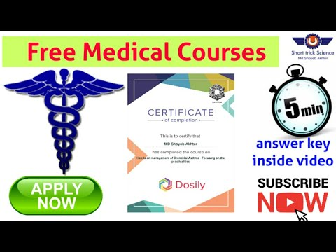 Free Medical related Courses with Certificate    #Short_trick_Science