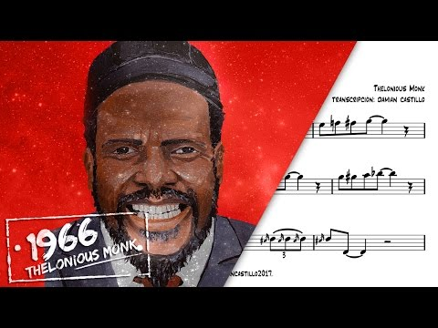 """Blue Monk"" - Thelonious Monk  - 🎷Sax Alto transcription🎷"