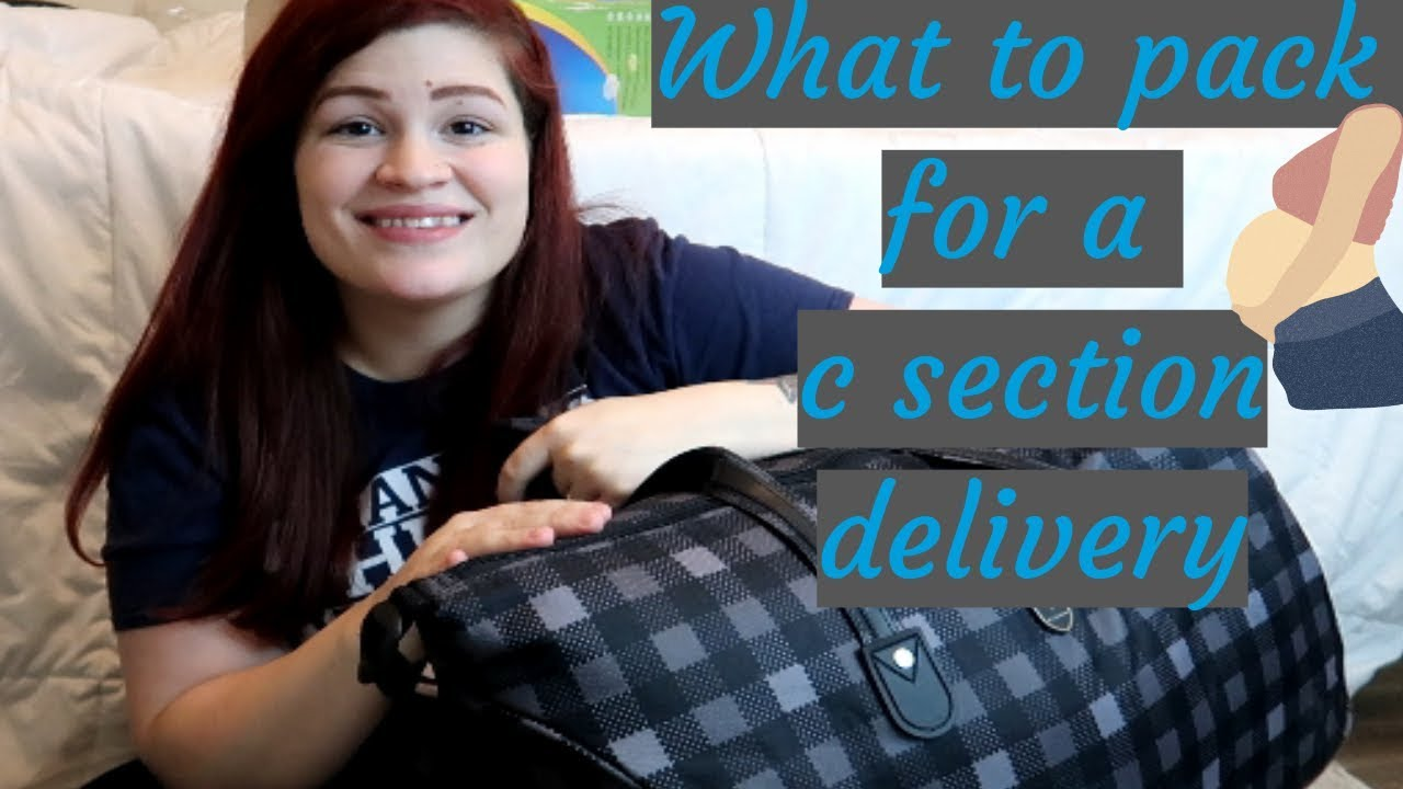 whats in my hospital bag for my 3rd c section - YouTube