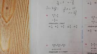 Oran ve Orantı Test 3 Esen TYT Matematik Mavi Seri Açıklamalı Çözümleri