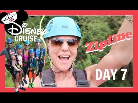 DISNEY CRUISE VACATION | DAY 7: FAMILY ZIPLINE and WE WIN BINGO! Flippin' Katie