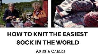 How to knit the easiest sock in the world - by ARNE & CARLOS PART 1.