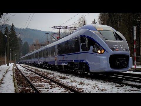 """ED161 """"Pesa DART"""" dla PKP Intercity - prezentacja podczas inauguracyjnego kursu jako IC Wisła"""