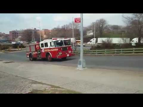 FDNY Engine 46 Responding In The Crotona Park East Section Of The Bronx