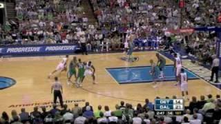 Pistons-Mavs 101-103 I Prince 28pts+Slam Over Dampier vs Nowitzki 30pts,Dampier 16pts,13reb