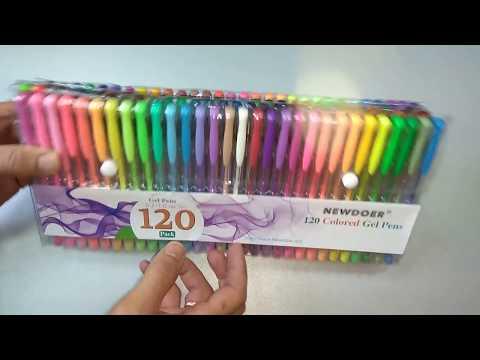 120 неповторяющихся цветных гелевых ручек!!!