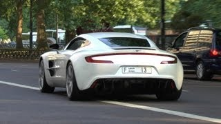 ARAB Aston Martin One-77 (Q Series) in London - Startup | Revs | Accelerations | Amazing Sound!!