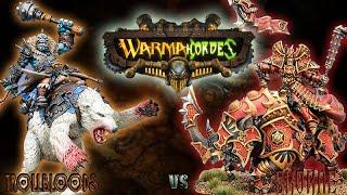 Warmachine & Hordes - Trollbloods (E-Borka) vs. Skorne (E-Xerxis) - 50pt Battle Report