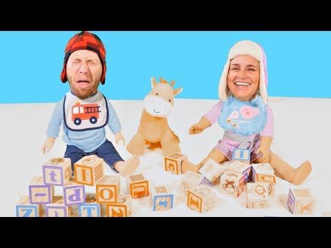 Adult Crying Babies - Grown-up Toddlers in Real Life - Let's Play Blocks Episodes
