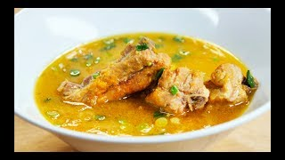 тыквенный суп с на свиных ребрах. Овощной суп