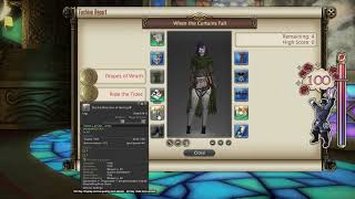 FFXIV: Fashion Report Friday - Week 50 - Theme : When The Curtains Fall