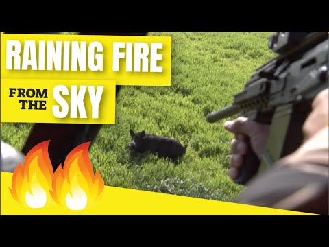 ULTIMATE HELICOPTER HOG ERADICATION CLIP - 💥Pigman & Uncle Ted Rain Fire From The Sky In TEXAS.💥