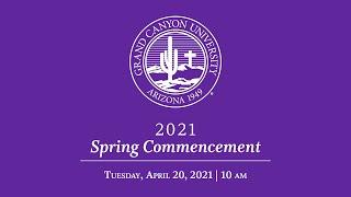 Spring 2021 Commencement | April 20 10am