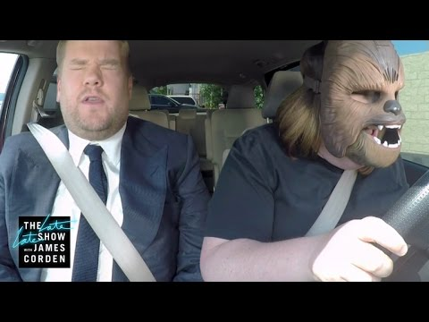 chewbacca-mom-takes-james-corden-to-work
