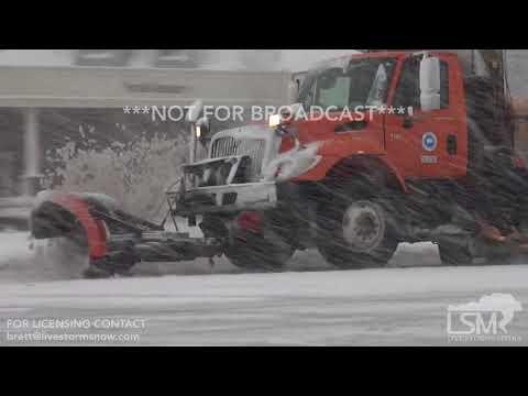 3-7-2018 Bridgeport, CT Drone /ground video of treacherous conditions along I-95, heavy snow