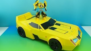 SUPER BUMBLEBEE TRANSFORMERS ROBOTS IN DISGUISE ELECTRONIC FIGURE REVIEW