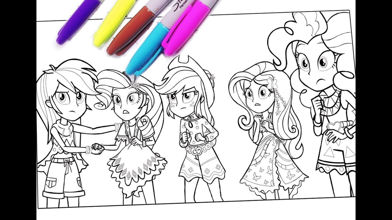 My little pony coloring pages MLP coloring for kids Equestria girls ...