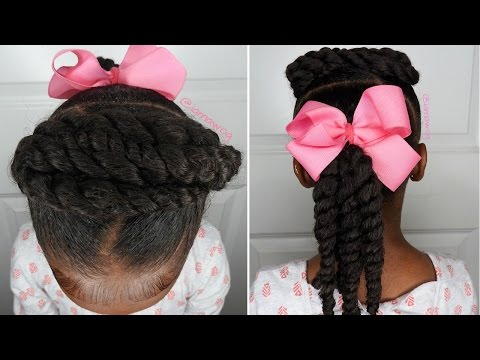 Quick & Easy 5 Minute Hairstyle | Kids Natural Hairstyle | IAMAWOG
