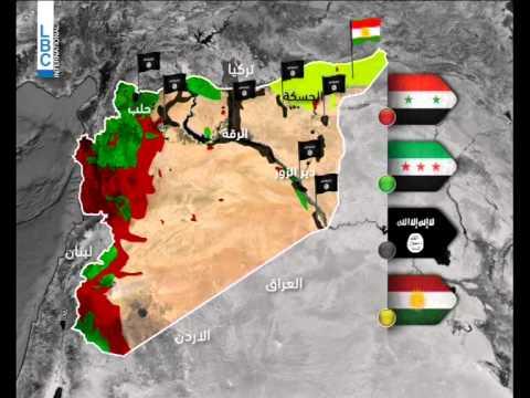 Lbci News العالم رسم خارطة سوريا في الحرب Youtube