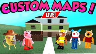 🔴Roblox Piggy - PLAYING VIEWERS PIGGY MAPS LIVE! MegaSquad Roblox Live
