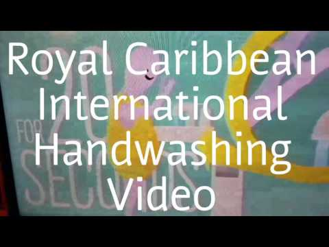 Royal Caribbean International Handwashing Video