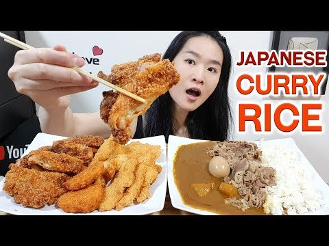 JAPANESE ULTIMATE CURRY RICE! Fried Chicken Katsu, Beef, Fish, Croquette & Egg | Eating Show Mukbang