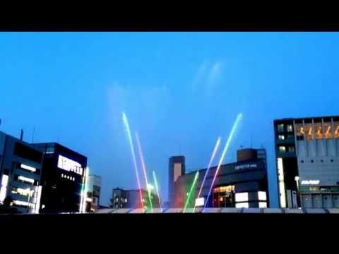 Water and Light Show at Aqua Fantasy, Kyoto Station